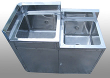 stainless steel laundry sink cabinet 0.8m high