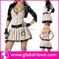 2015 best quality police dance halloween cosplay costume