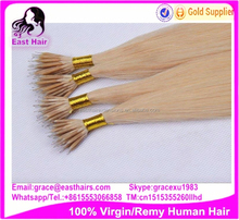 wholesle cheap micro loop hair extension, prebonded human hair, brazilian hair nano ring hair