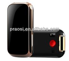 2014 tipo flip senior mobile phone com gps rastreamento e sos botão