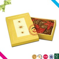2015 New style top sale paper cardboard storage clothes saree box