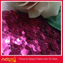 The hot sale top 100 design 100% polyester rotund fair fancy sequin fabric stock fabrics kg