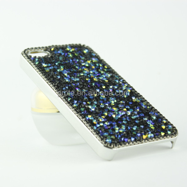 crystal diamond pc material strong shockproof case for samsung galaxy s4