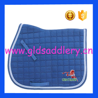 Wicking cotton lining fabric octagon quilted saddle pad for horse