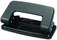 Metal black paper hole punch with 10 sheets