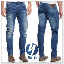 pantalones vaqueros desgarrado de marcas