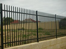 Tourist area decorative palisade fence/steel art(supplier)