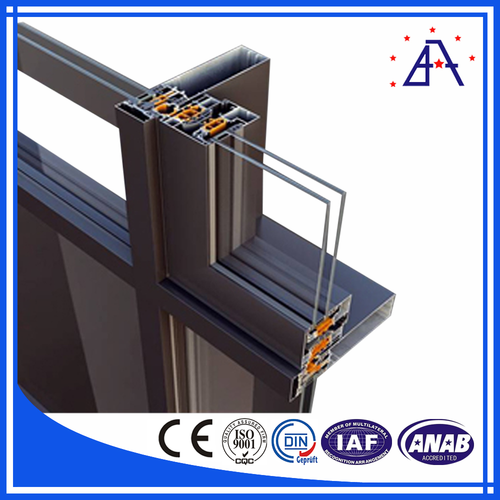 Aluminum Glass Wall : Visible aluminum frame glass curtain wall for sale