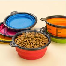 Silicone Dog Bowl , Folding Collapsible Dog Bowl, Silicone Pet Dog Bowl