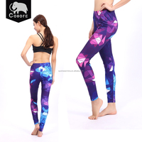 The patterns of the shining fitness leggings for women