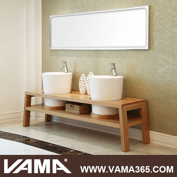 vama moderne en bois salle de bain vanit lavabo en verre double meuble lavabo de salle de bain. Black Bedroom Furniture Sets. Home Design Ideas