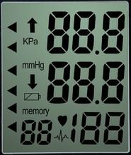 custom monochrome transparent segment blood pressure meter lcd display