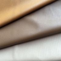 Mini plaided garment leather fabric for long t-shirt DG0103