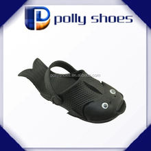 kid black clog fish shaped slippers for boys
