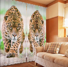 2015 Hottest New Vivid Leopard print 3D stereoscopic photo blackout curtains with good quality.