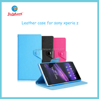new arrivel high quality wholesale pu leather flip case for sony xperia z l36h c6603