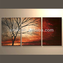 Newest Handmade Landscape Designs Fabric Painting For Decor