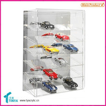 High Quality Clear Glass Toy Car Display Box Acrylic Model Car Display Cabinet Acrylic Diecast Model Cars Display Manufacturer