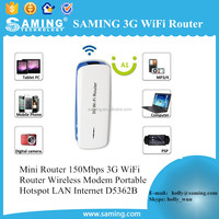 Mini Router 150Mbps 3G WiFi Router Wireless Modem Portable Hotspot LAN Internet D5362B