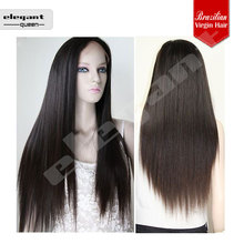 free style 8inch silky straight100% virgin remy brazilian human hair full lace wig