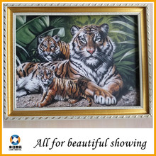265g tiger animal painting oil yellow base eco-solvent cotton oil canvas for decorative home decoration