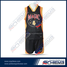 wholesale reversible basketball sets custom quick dry basketball team reversible uniform/shorts
