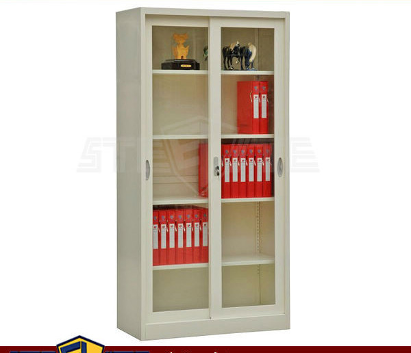 white bookcase with glass sliding doors, View home furniture white ...