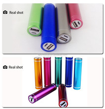 2015 Top Selling 2600mAh rechargeable mobile phone cylinder portable charger