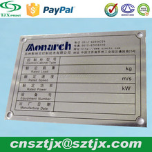 high quality Metal brand label sticker with 3M adhesive