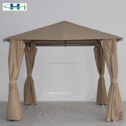 10'x10' iron tube polyester deluxe garden outdoor gazebo side curtains