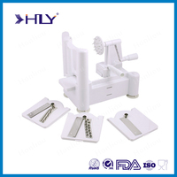 Hot selling tri blade spiral food slicer vegetable slicer, Plastic multi vegetable spiralizer slicer as seen on TV