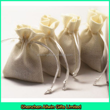 Natural Jute gift pouch for jelellery,Jute jewellery pouch for gifts