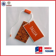 Custom fashion design printed paper wholesale clothing hang tag made in china
