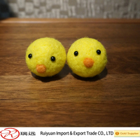 Happy Easter!100% wool felt Yellow chicken toy for kids new for 2015