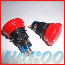 HBD16-F1R1 16mm mushroom electronical Emergency stop push button switch