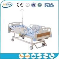 MINA-MB2304 cheap manual 2 cranks flat hospital bed parts