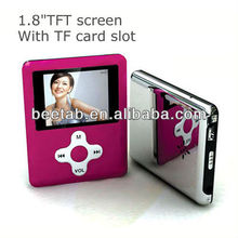 mini mp4 with memory card slot for christmas gift