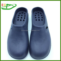 2015 Fashion Lady Men Medical Nurse Chef EVA Clogs EGA0327-03 Navy Color