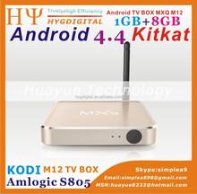 m12 Distinctive Metal tv box MXQ M12 set top box Amlogic S805 Alunminum case h 265 Quad core Android 4.4 TV Box M12