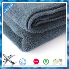 100 polyester flame retardant antipilling airline blanket polar fleece blanket