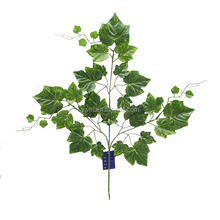 3 branches green fabric wall decorative artificial grape leaf vines craft leaves