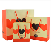 Valentine Day Paper Bag, Luxury Paper Shopping Bags For Jewelry, Gift Packing Paper Bag
