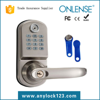 Electronic keypad door lock with smart tm card system