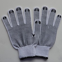Surprised price wonderful pvc dotted cotton gloves with good quality/850g