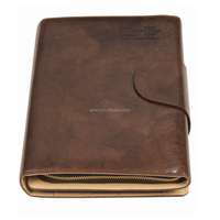 Zippered Portfolio zipper leather cover for ipad