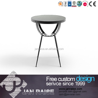 Alibaba supplier round glass coffee table, glass cutting table glass end table