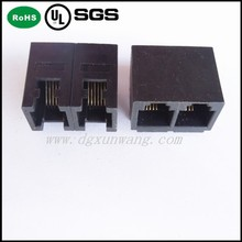 Side Entry alibaba supplier rj 45 connector PCB Jack RJ11 , 6P6C-1X2 ,Tab UP,Unshielded Type .