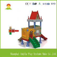 Children park products castle style indoor kids plastic slides