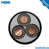6/10kv FV 240mm2 90degree Cross-linked Polyethylene insulation FR-PVC Flame-retardent power cable