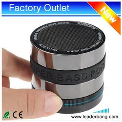 hot Super Bass Bluetooth Wireless Mini Bluetooth Speaker for MP3 / Mobilep Phone/Tablet PC / Laptop 50pcs/Set